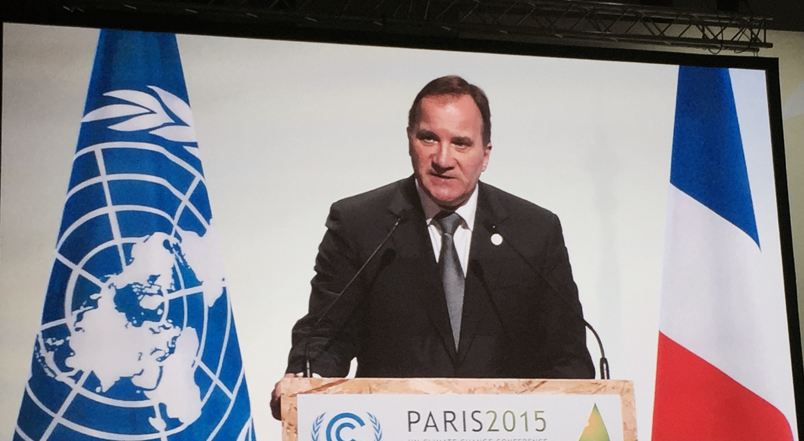 Swedish Prime Minister Stefan Lofven at COP21