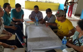 Public consultation with communities in Chiriqui Viejo Watershed. Work group session. Photo: Fundación Natura