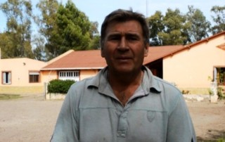Roberto Miller, a farmer in the semi-arid Northern Patagonia region